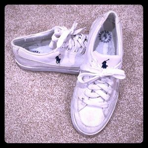 Ralph Lauren Polo White Canvas Sneakers